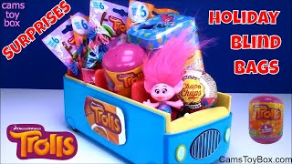 Dreamworks Trolls Holiday Blind Bags Series 6 Surprise Toys Tins Chupa Chups Capsule Opening