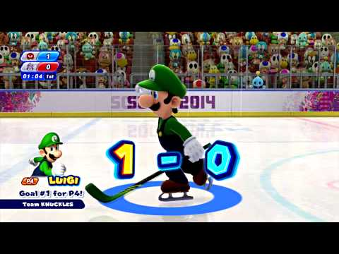 Mario and Sonic at the Sochi 2014 Olympic Winter Games Part 15: Ice Hockey