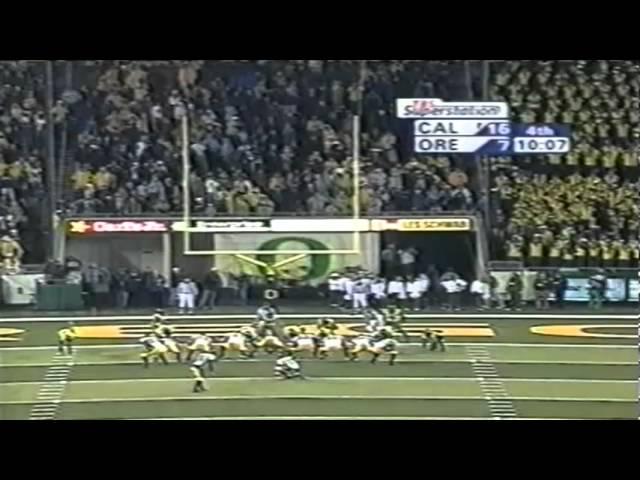 Cal TE Garrett Cross 18 yard touchdown catch vs. Oregon 11-08-2003
