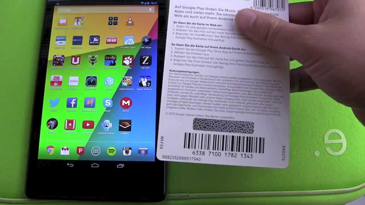 Google Play Store Guthaben Karte in der App einlösen - YouTube