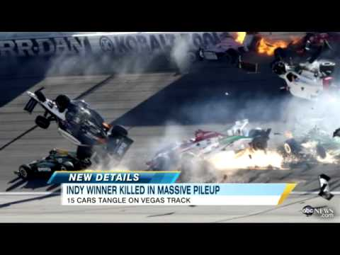 Dan Wheldon, Indy 500 Winner, Dies; Crash Video Shows Multiple Cars on Fire