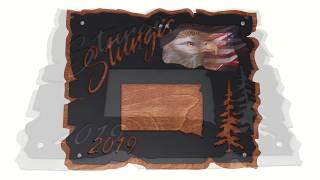 Sturgis 2019 Large Plaque with American Eagle
