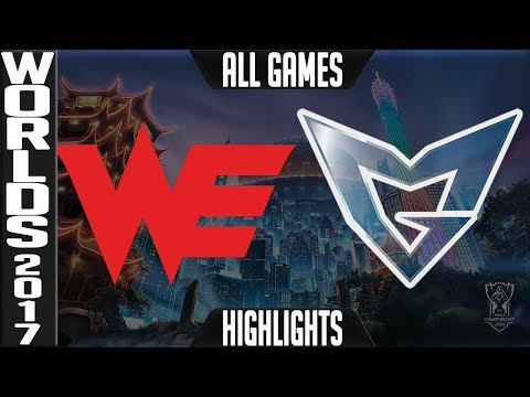 WE vs SSG Highlights ALL GAMES - Worlds 2017 Semifinals Team WE vs Samsung Galaxy