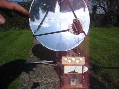 Solar powered  Stirling Cycle TMG