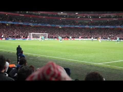 Arsenal v Barcelona in the UEFA Champions League round of 16, Andrey Arshavin scores to make the score 2-1 to the ARSENAL!! I am a season ticket holder at th...
