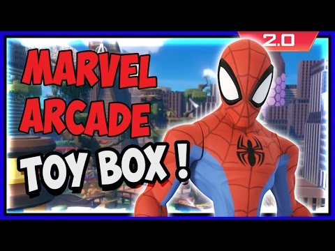 Disney Infinity 2 - Marvel Arcade Toy Box Gameplay