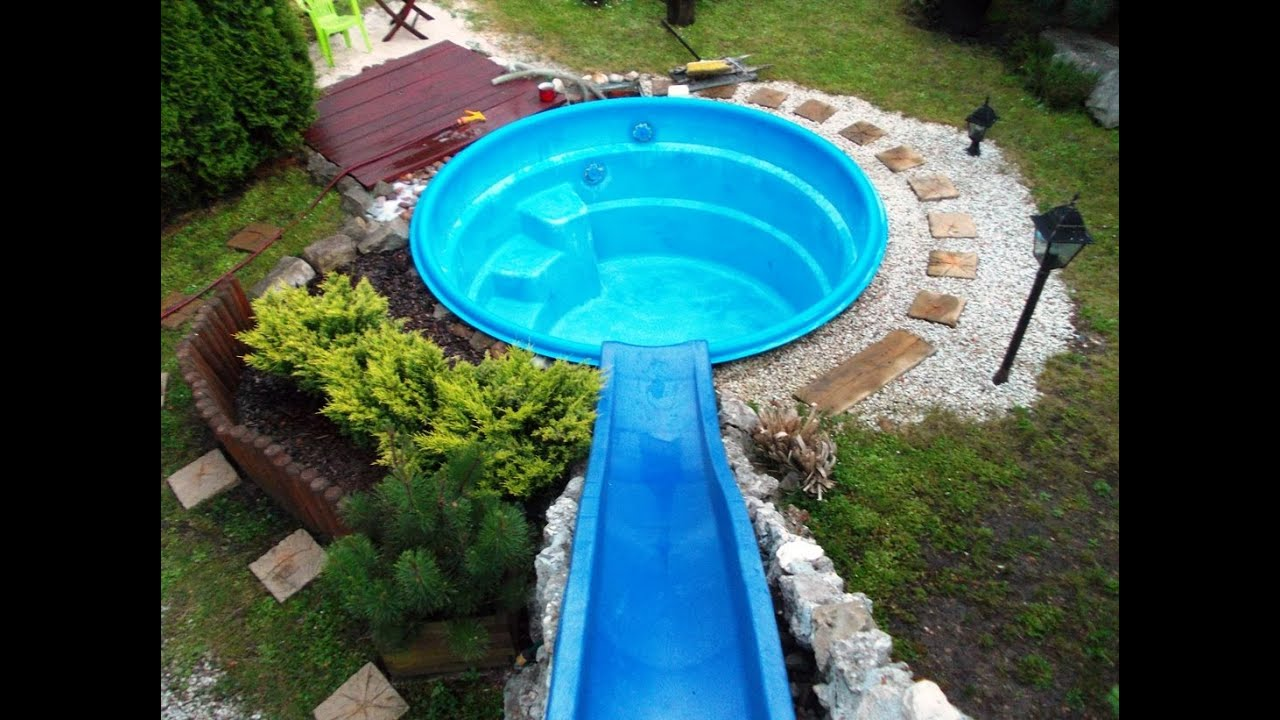 How to make a water slide for less than 100 please read - How to build a swimming pool slide ...