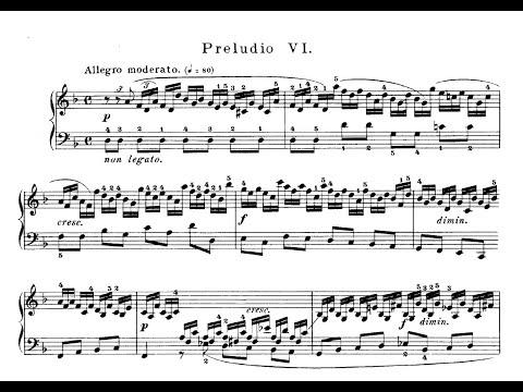 Бах Иоганн Себастьян - Prelude No Vi Well Tempered Clavier