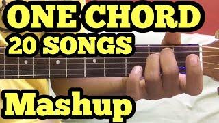 1 Chord 20 Guitar songs MASHUP Lesson   Bollywood/Hindi Songs Mashup   One chord   Sidharth Salathia