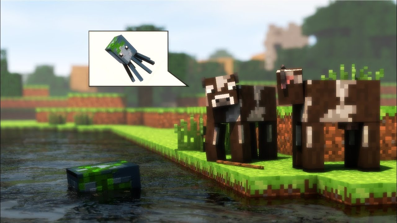 Minecraft Animation Background Cows Minecraft Animation