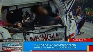 BP: 11, patay sa salpukan ng multi-cab at closed van