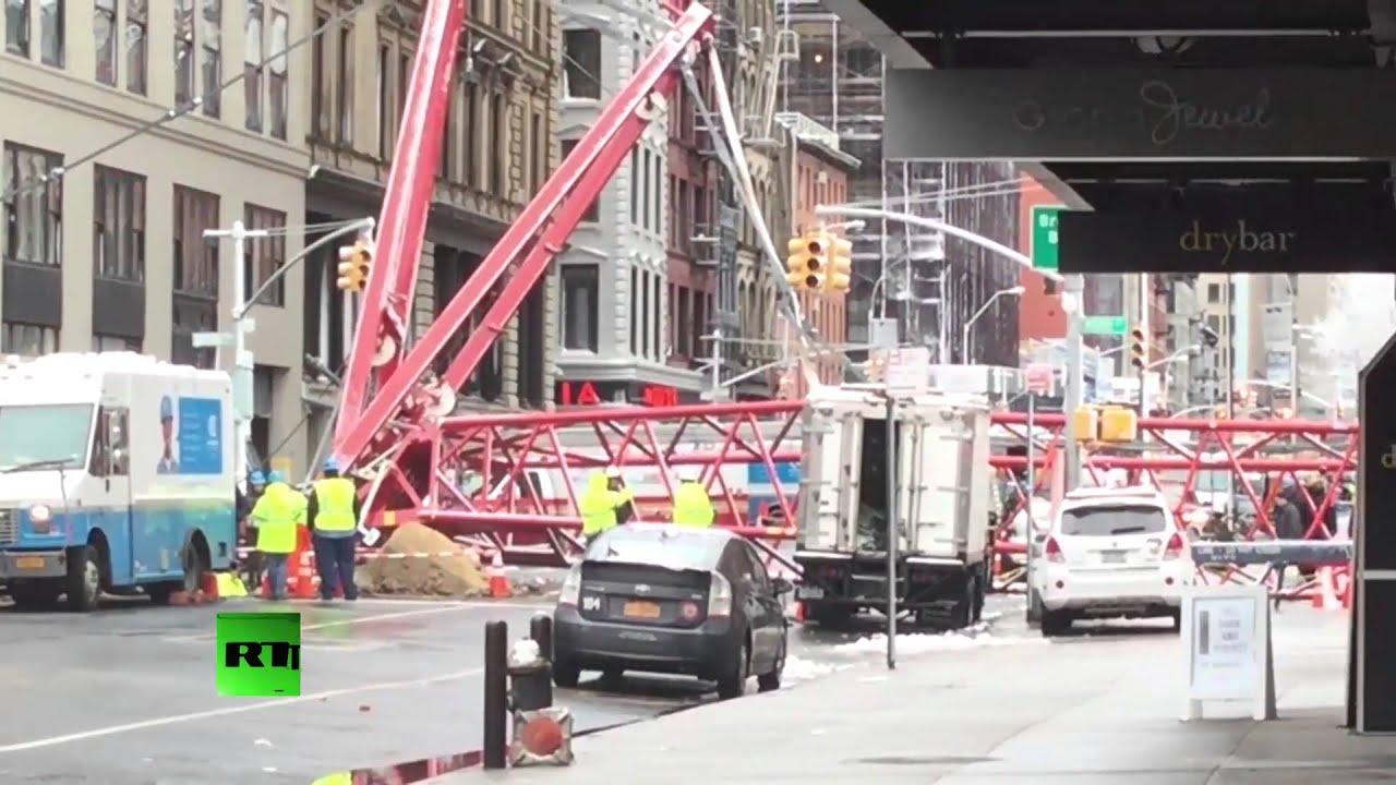 One dead, three injured after crane collapses in Manhattan