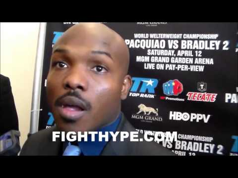 TIMOTHY BRADLEY WANTS TO HURT OR DROP PACQUIAO FOR A DECISIVE VICTORY IN REMATCH