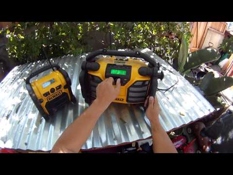 DeWalt Worksite Radio Reviews - DCR018 and DCR015