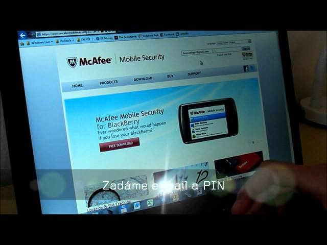 ThinkPad Tablet lekce 4: McAfee Mobile Security