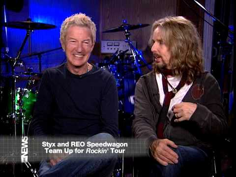 Tommy Shaw&Kevin Cronin from REO Speedwagon on VH1 News, talking about their summer plans for 2009