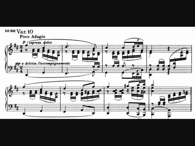 Brahms - Variations on a Theme of Robert Schumann, Op. 9 ...
