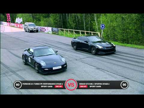 Porsche 911 Turbo vs Nissan GT-R Battle