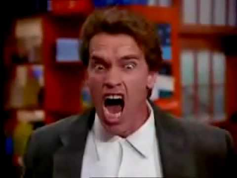 Arnold playing get to the chopper! - YouTube Arnold Schwarzenegger Movies