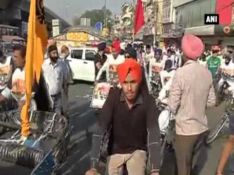 Citizens in Delhi cycle to mark 31 years of 1984 sikh riots