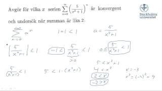 Geometriska serier I