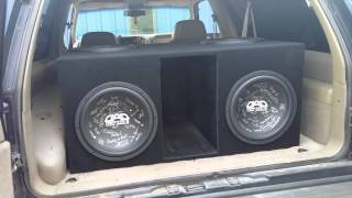 4 DAD KMH 15's on 1200 watts in Spencer's Yukon.