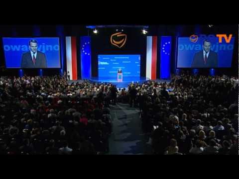 Minister Radosław Sikorski - Konwencja Programowa PO, 10.09.2011 - PO TV