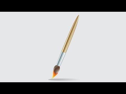 Видео как нарисовать кисточку