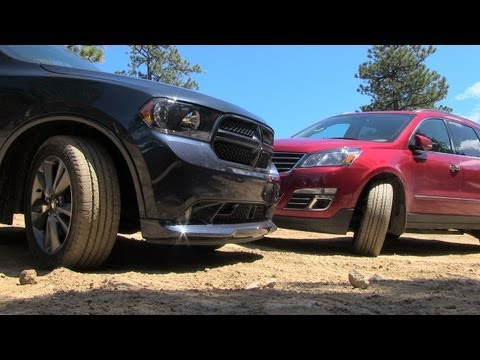 2013 Dodge Durango vs Chevy Traverse Muddy Off-Road Mashup Review (Part 1)