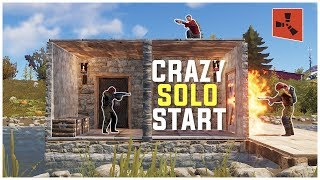 Rust - My CRAZIEST SOLO START Ever (Solo Base Defense & More)