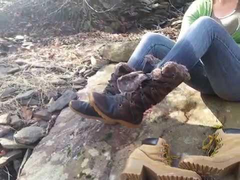 Wetlook Crazy For Wetness: Wet Boots in a River