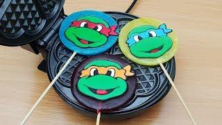 EXPERIMENT WAFFLE IRON vs Lollipop Teenage Mutant Ninja Turtles