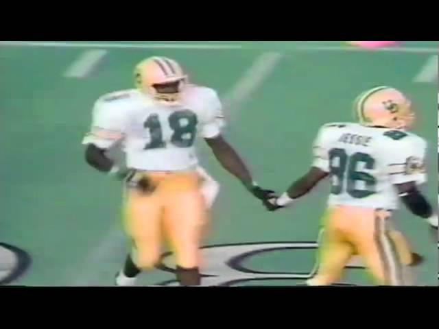 Oregon WR Anthony Jones 18 yard catch vs. Texas Tech 9-14-1991