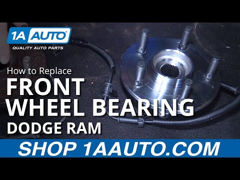 How to Install Front Wheel Bearing Hub Assembly and Speed Sensor 2006-08 Dodge Ram BUY AT 1AAUTO.COM