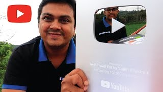 Unboxing New YouTube Silver Play Button by Tech Travel Eat