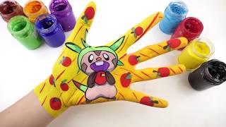 Bé Học Làm Họa Sĩ l Cách Vẽ Chespin (Pokemon) l Dạy Bé Học Màu Sắc Tiếng Anh với Pokemon