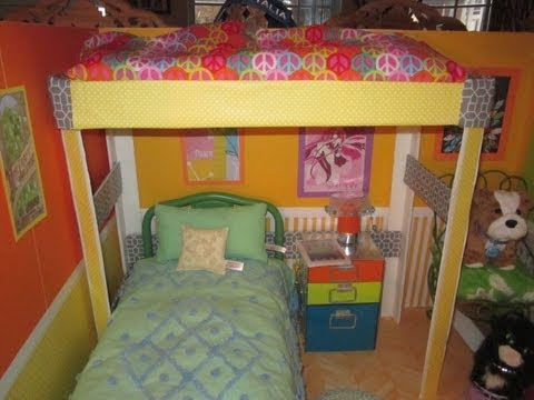 Htm Loft Bed For Your Ag Dolls Youtube