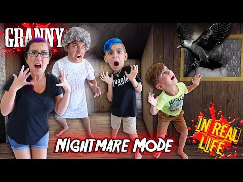 GRANNY In Real Life NIGHTMARE MODE With Statues (FUNhouse Family)