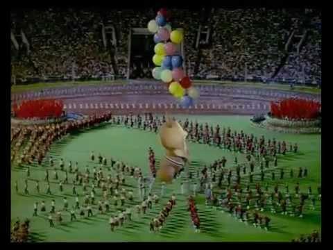 Moscow Olympics 1980 Closing ceremony with Misha!