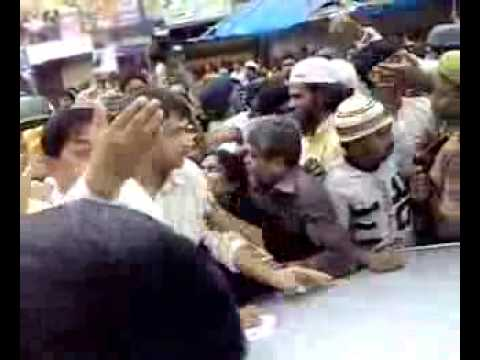 Akbaruddin Owaisi Protesting Against Home Minister after Mecca...