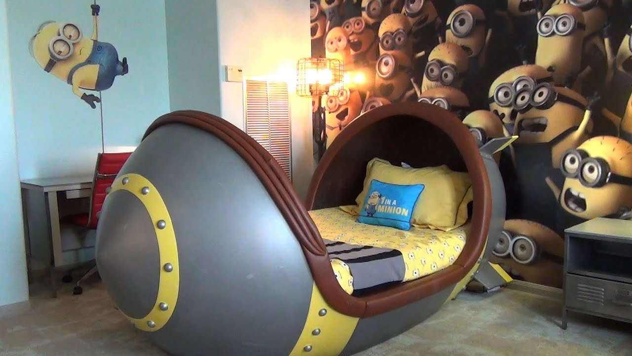 We Need To Talk About Kids And >> Minion Suite Detailed Tour at Loews Portofino Bay Hotel, Universal Orlando w/ Missile Beds - YouTube