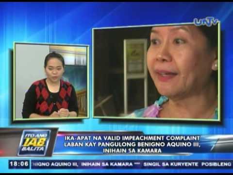4th valid impeachment complaint vs Pres. Benigno Aquino III, inihain sa Kamara