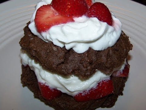 Gluten Free Chocolate Scones Recipe - Chocolate Strawberry Shortcake