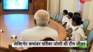 Deshhit: PM Modi meets all-woman crew of INSV Tarini