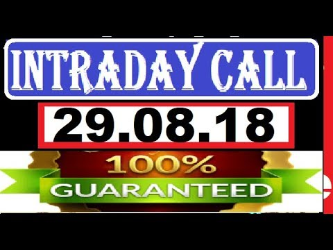 IntraDay Top 3 Jackpot Call 29.08.2018 || today stock || intraday || best stock for 2018