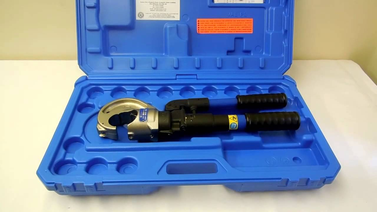 cembre ht131 c hydraulic crimping tool up to 400sqmm youtube. Black Bedroom Furniture Sets. Home Design Ideas