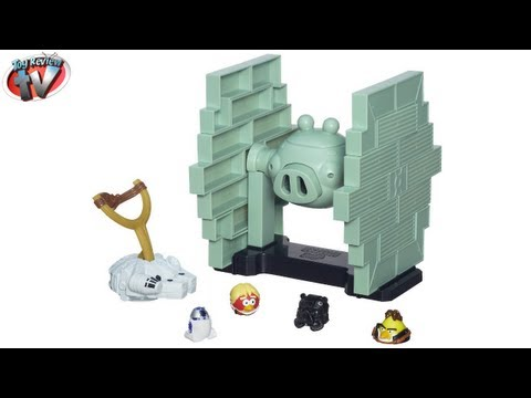 Angry Birds Star Wars Jenga Tie Fighter Game Toy Review. Hasbro