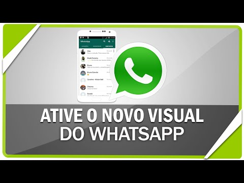 Como ativar novo visual do WhatsApp no android