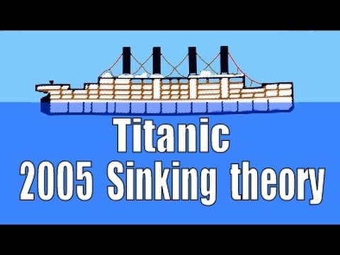 Titanic Sinking simulation 2005 History Channel sinking/Break-up theory