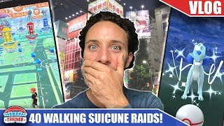 IT ALMOST DIDN'T HAPPEN!! 40 *WALKING* Raids for SHINY SUICUNE in TOKYO | Pokémon GO JAPAN VLOG